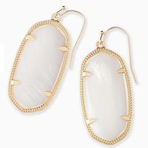 Kendra Scott White Pearl Elle Earrings